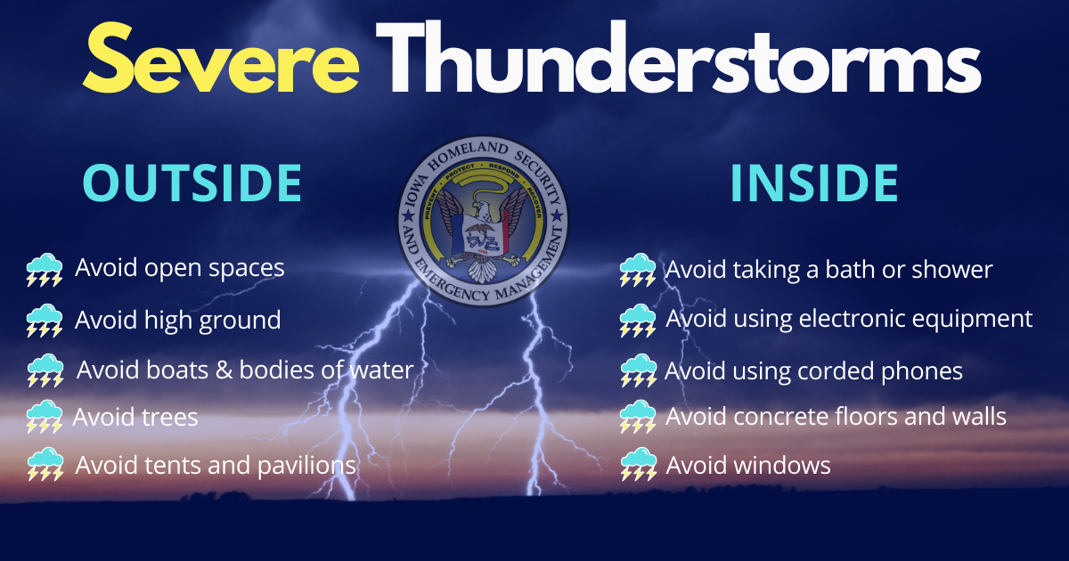 Severe Thunderstorms - What to Avoid When Inside and Outside